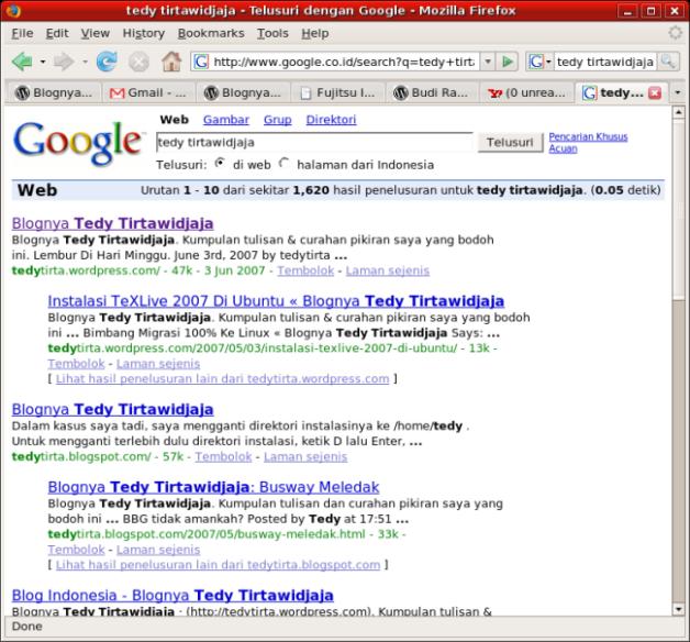 "Hasil Pencarian Google Untuk ""tedy tirtawidjaja"""
